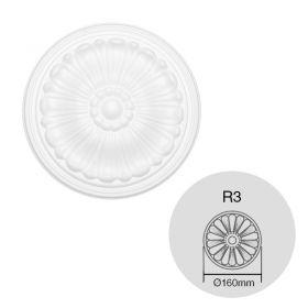 Moldura decorativa rosetones techo EPS Isomold R3 interior ø160mm