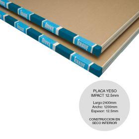 Placa yeso construccion seco Impact resistente golpes interior 12.5mm x 1200mm x 2400mm