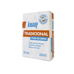 Yeso tradicional obra revoques interiores manual secado rapido bolsa x 25kg