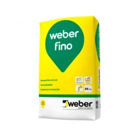 Revoque fino a la cal Weber fino interior blanco bolsa x 25kg