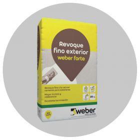 Revoque fino a la cal Weber Forte exterior gris bolsa x 25kg