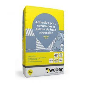 Pegamento piso y revestimiento Weber Pro ceramicos/porcelanatos bolsa x 30kg