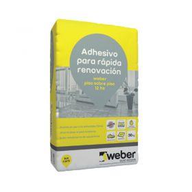Pegamento Weber Piso Sobre Piso 12hs bolsa x 30kg