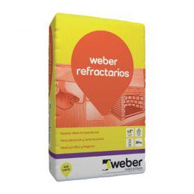 Pegamento ladrillos/tejuelas refractarios Weber Refractario gris amarronado bolsa x 20kg