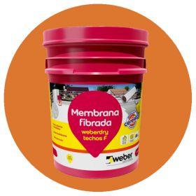Membrana liquida impermeabilizante Weberdry Techos F fibrado transitable teja balde x 10kg