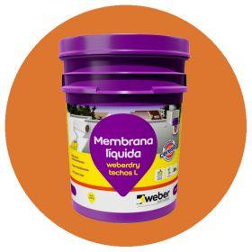 Membrana liquida impermeabilizante Weberdry Techos L flexible no transitable teja balde x 20kg
