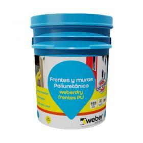 Pintura impermeabilizante poliuretano Weberdry Frentes PU blanco balde x 10l