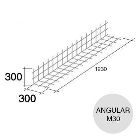 Malla acero refuerzo angular Concrehaus M30 300mm x 300mm x 1230mm