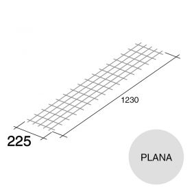 Malla acero plana refuerzo Concrehaus 225mm x 1230mm