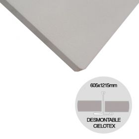 Placa cielorraso desmontable Cielotex EPS blanco 35mm x 605mm x 1215mm