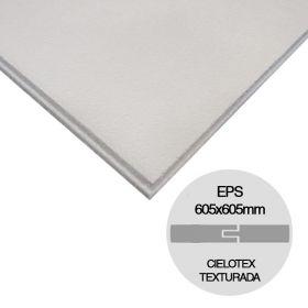 Placa cielorraso Cielotex EPS texturada blanco 35mm x 605mm x 605mm