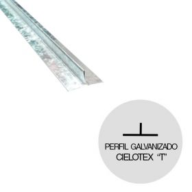 Perfil cielorraso Cielotex T galvanizado 2000mm