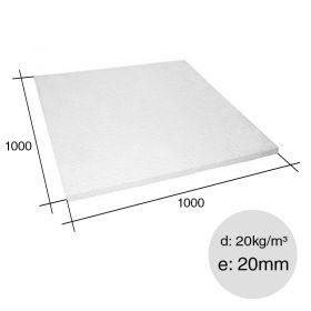 Placa aislante termico Isoplancha EPS densidad 20kg/m³ 20mm x 1000mm x 1000mm