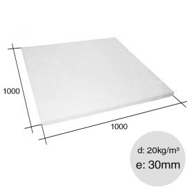 Placa aislante termico Isoplancha EPS densidad 20kg/m³ 30mm x 1000mm x 1000mm
