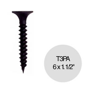 "Tornillo autoperforante T3 punta aguja 6 x 1.1/2"" pack x 100u"